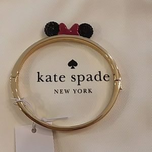 Kate Spade Disney Minnie Mouse gold bangle nwt